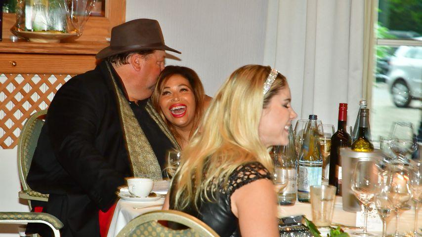 Andreas Ellermann und Patricia Blanco bei einer Spenden-Gala im Waldhaus Reinbek, Hamburg