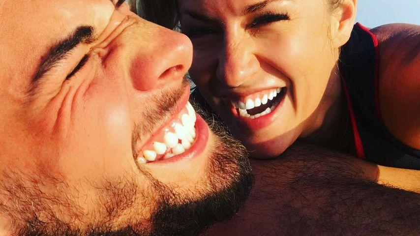 Andrew Brady und Caroline Flack, britische Reality-TV-Stars