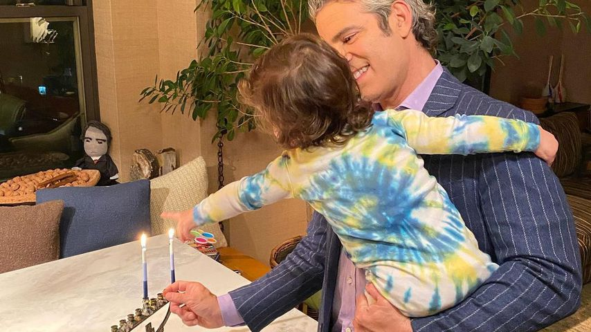Andy Cohen mit seinem Sohn Benjamin, 2020