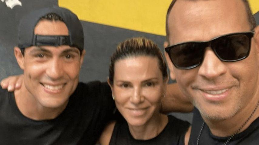 Angel Nicolas, Cynthia Scurtis und Alex Rodriguez im Juni 2021