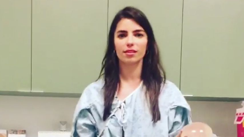 Angela Trimbur im Krankenhaus