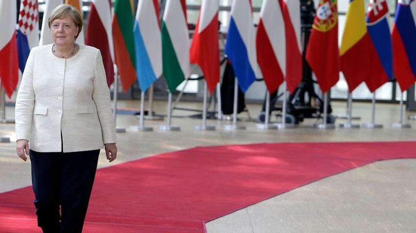 Bundeskanzlerin Angela Merkel im Europa Building, Brüssel