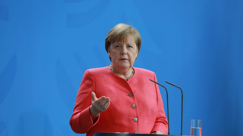 Angela Merkel bei einer Pressekonferenz im Juni 2020