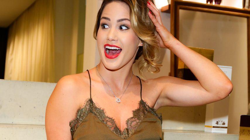 Ziegenattacke: So sieht 'ne panische Angelina Heger aus!