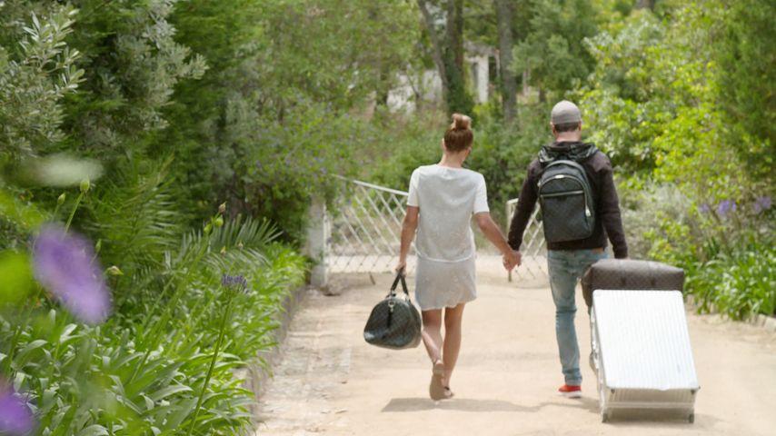 Angelina Heger und Rocco Stark beim Auszug aus dem RTL-Sommerhaus