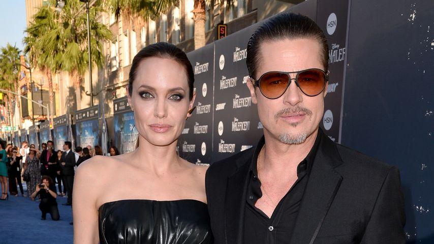 """Angelina Jolie und Brad Pitt bei der Premiere von """"Maleficent"""" in Hollywood"""