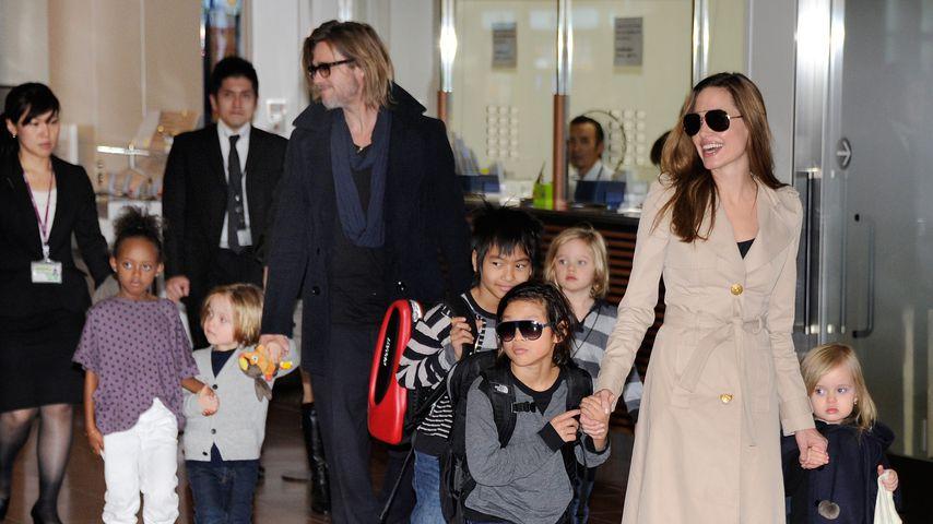Brad Pitt & Angelina Jolie: Rosenkrieg beendet für die Kids?