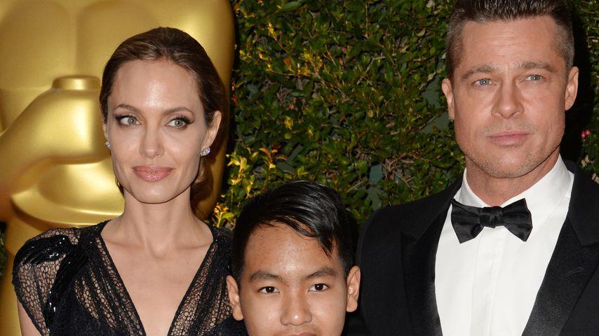 Angelina Jolie und Brad Pitt mit Sohn Maddox, Oscarverleihung 2013