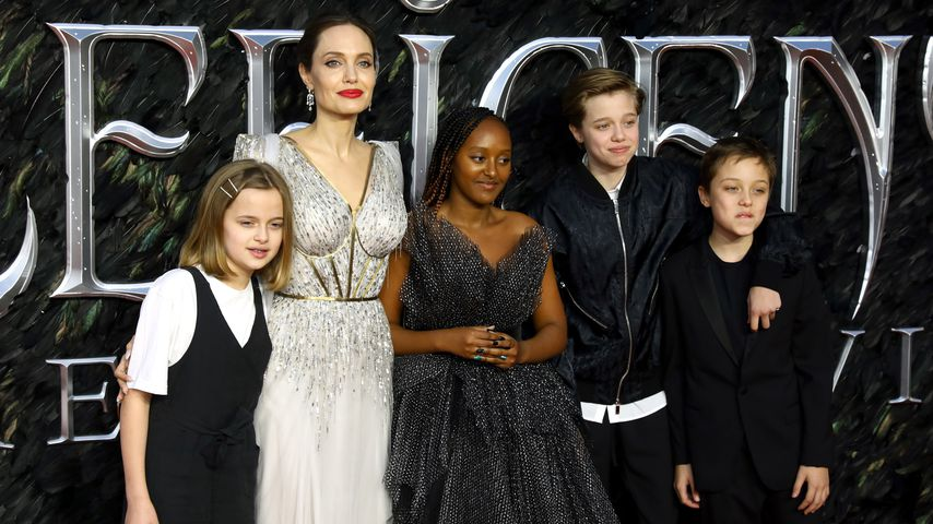 """Angelina Jolie und ihre Kinder bei der Premiere von """"Maleficent 2: Mächte der Finsternis"""""""