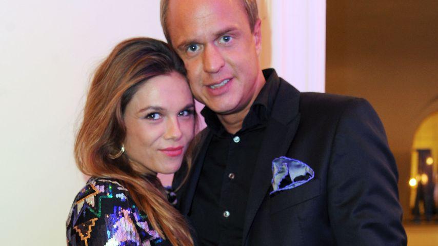 """Angelina und Alexander Posth bei der Musical-Premiere von """"Mamma Mia"""""""