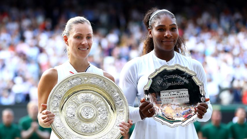 Angelique Kerbe und Serena Williams