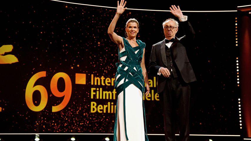 Anke Engelke und Berlinale-Direktor Dieter Kosslick