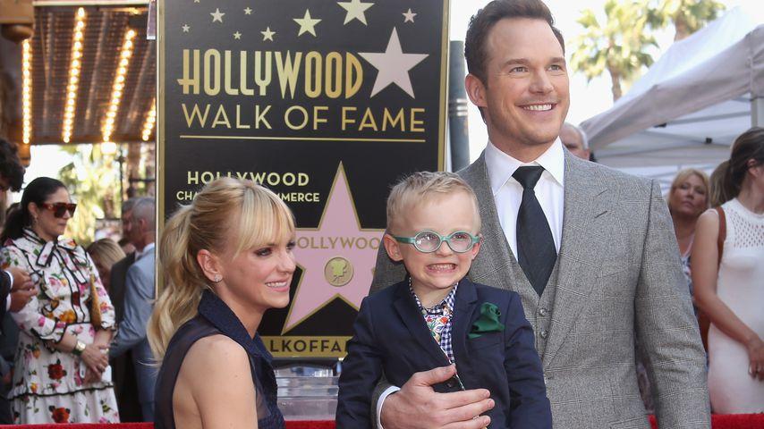 Anna Faris, Jack Pratt und Chris Pratt bei der Walk of Fame-Ehrung in Hollywood 2017