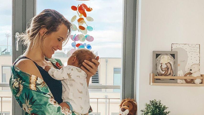 Anna Hofbauer mit ihrem Sohn Leo, Januar 2020