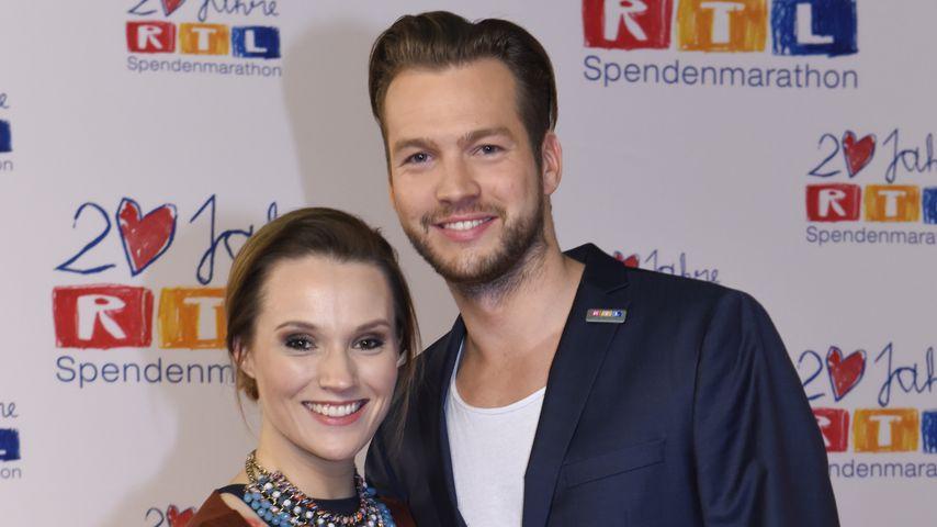 Anna Hofbauer und Marvin Albrecht beim RTL-Spendenmarathon 2015