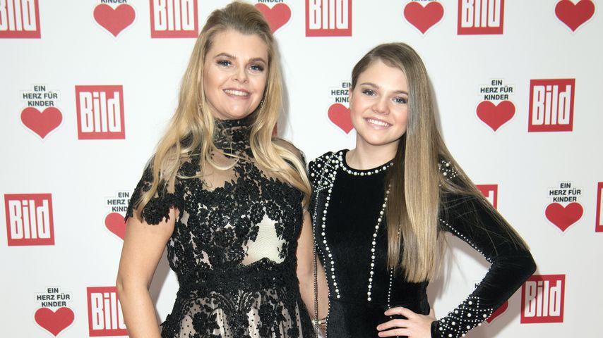 Anne-Sophie Briest und ihre Tochter Faye Montana