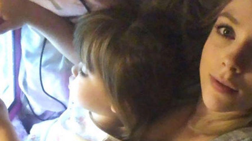 Anne Wünsche mit ihren Kindern Juna und Miley
