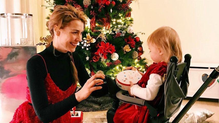 Annett Möller und Tochter Livia