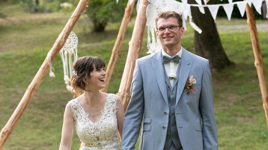 Annika und Manuel an ihrem Hochzeitstag