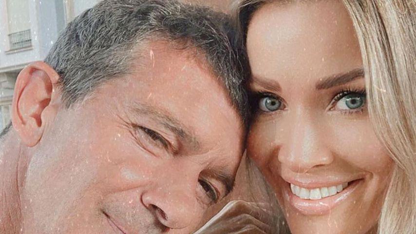 Antonio Banderas und seine Partnerin Nicole Kimpel im Jahr 2020