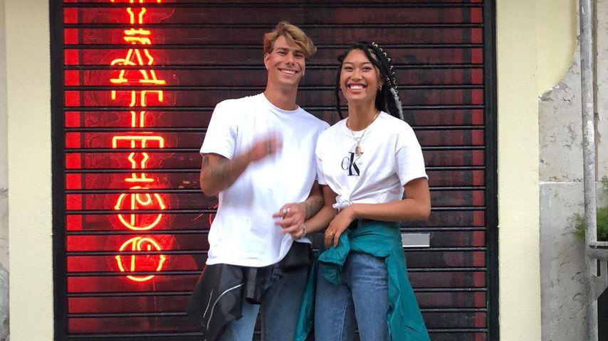 Anuthida Ploypetch und ihr Freund Richard Koll, April 2020