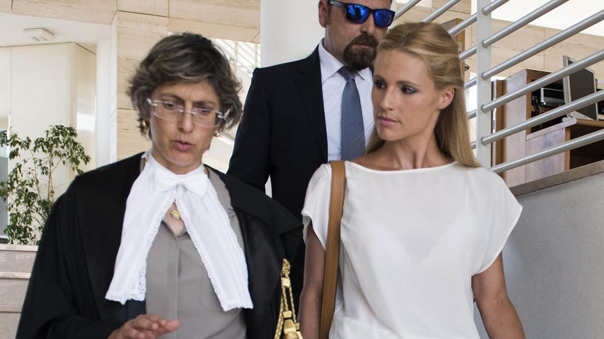 Anwältin Giulia Bongiorno mit ihrer Mandantin Michelle Hunziker