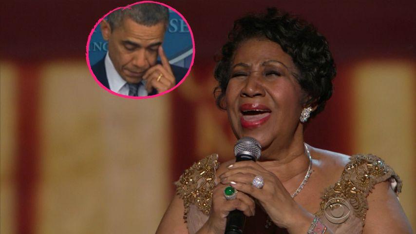 Gänsehaut pur! Aretha Franklin rührt Barack Obama zu Tränen