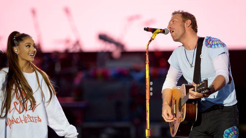 Ariana Grande und Chris Martin beim Benefizkonzert von Manchester