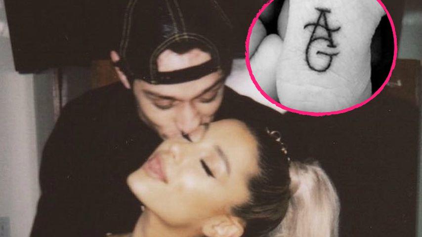 Jetzt schon? Ariana Grandes Freund bekommt Liebes-Tattoos