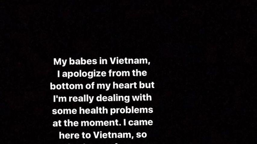 Ariana Grandes Entschuldigung auf Instagram