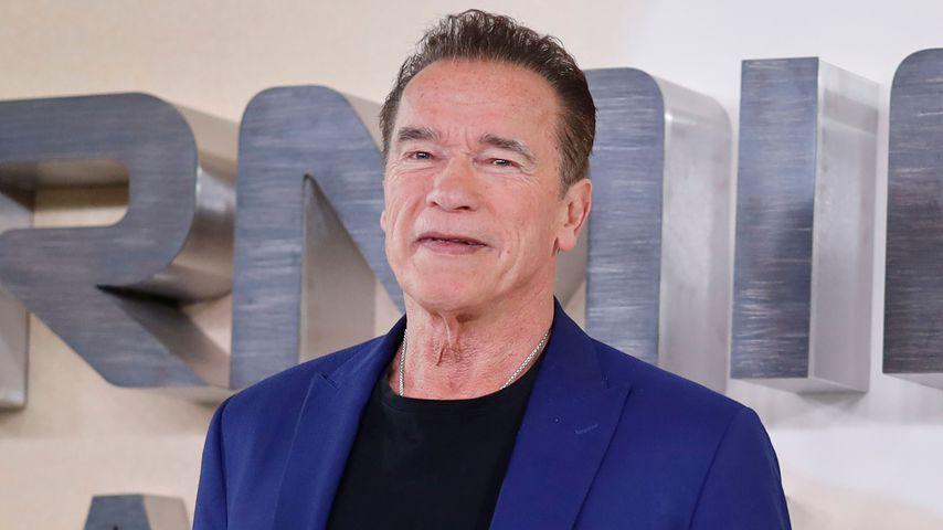 Arnold Schwarzenegger bei einem Pressetermin in London, 2019