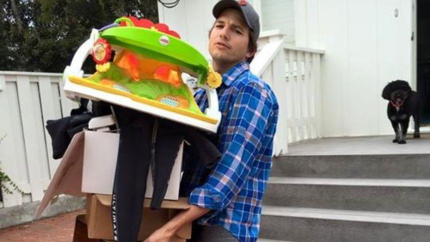 Ashton Kutcher gestresst: Sein Leben ist ein Balanceakt