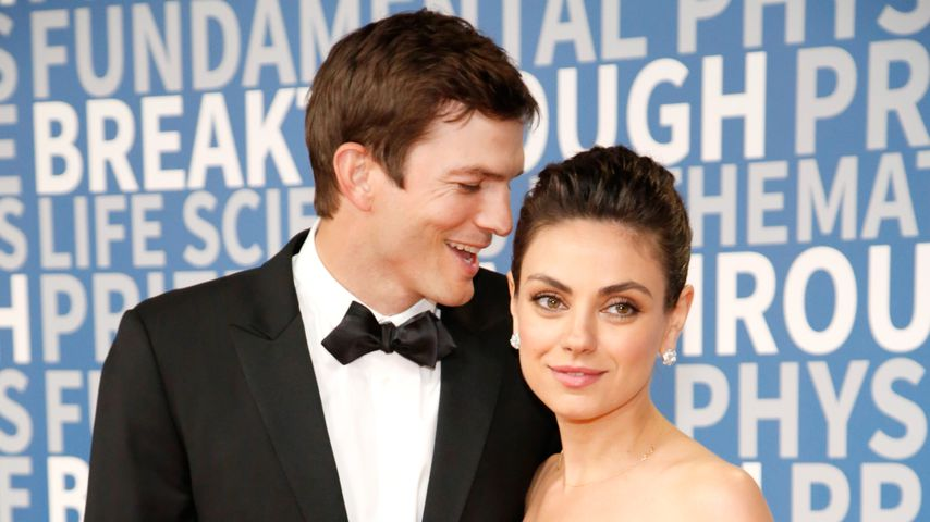 Ashton Kutcher und Mila Kunis beim 2018 Breakthrough Prize