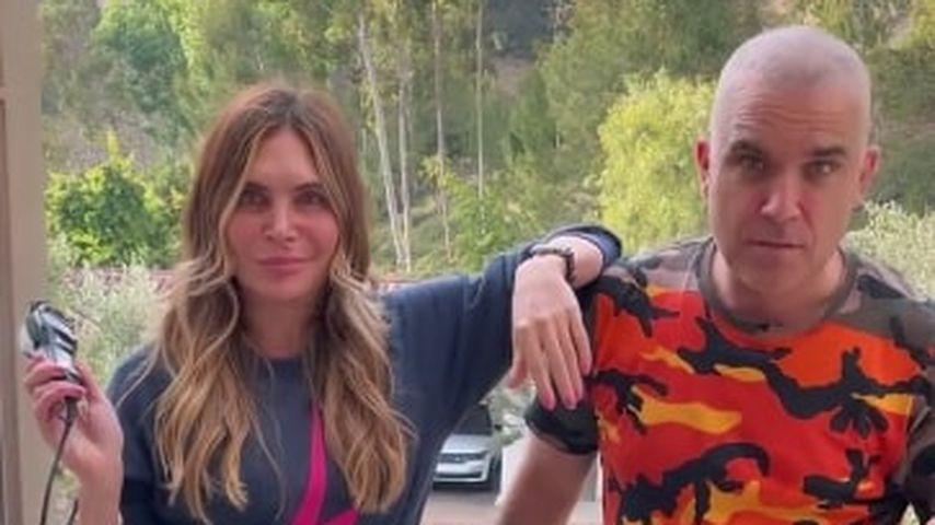 Radikal! Ayda Field rasiert Robbie Williams eine Glatze!