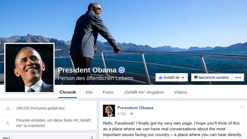Willkommen, Mr. President! Barack Obama hat jetzt Facebook