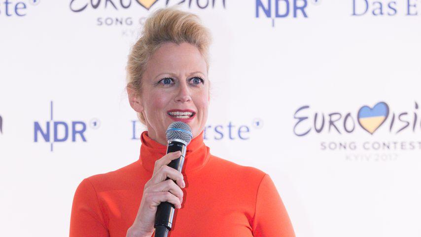 Barbara Schöneberger bei der ESC-Pressekonferenz in Köln