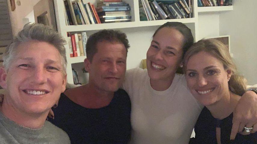 Bastian Schweinsteiger, Til Schweiger, Ana Ivanovic und Angelique Kerber, Februar 2020