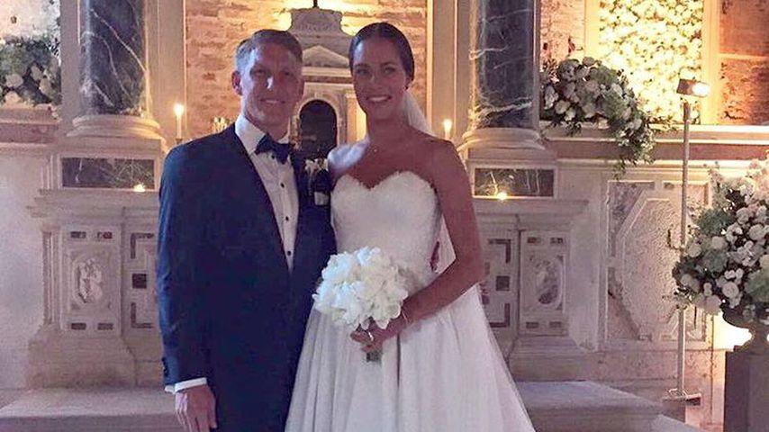 Hochzeitsfoto von Bastian Schweinsteiger und Ana Ivanovic