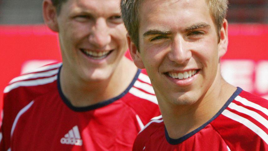 Bastian Schweinsteiger und Philipp Lahm beim FC Bayern München-Training 2006