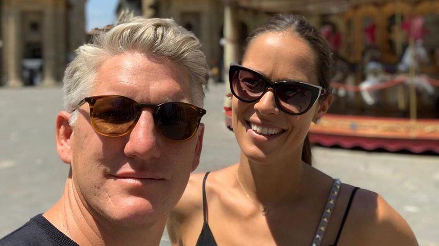 Bastian Schweinsteiger und seine Frau Ana Ivanović im Juni 2021
