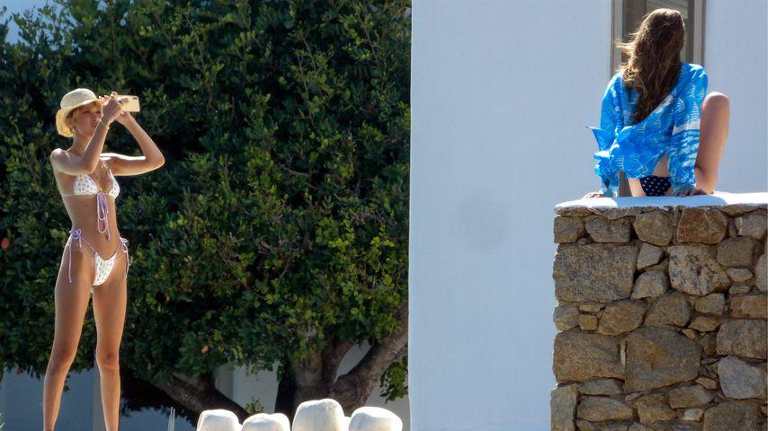 Bella und Gigi Hadid beim privaten Shooting auf Mykonos