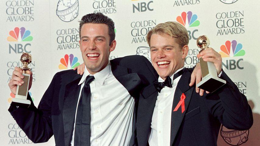 Ben Affleck und Matt Damon bei den Golden Globes 1998