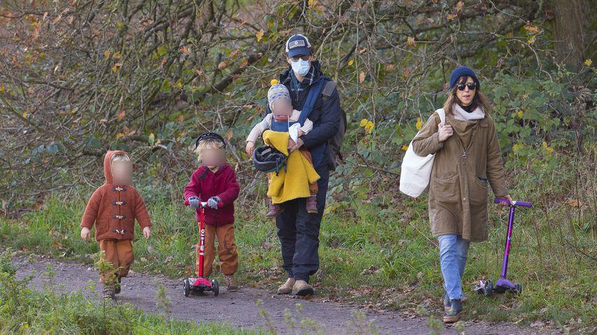 Benedict Cumberbatch mit seiner Frau Sophie Hunter und ihren Kindern