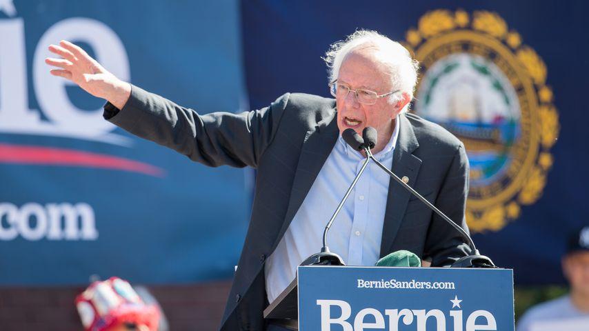Bernie Sanders bei einer Wahlkampfveranstaltung in Plymouth