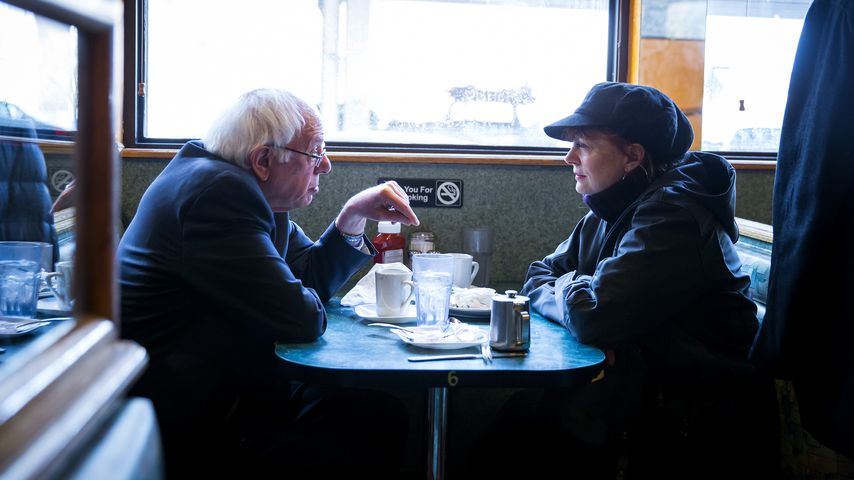 Bernie Sanders und Susan Sarandon 2016 in New York