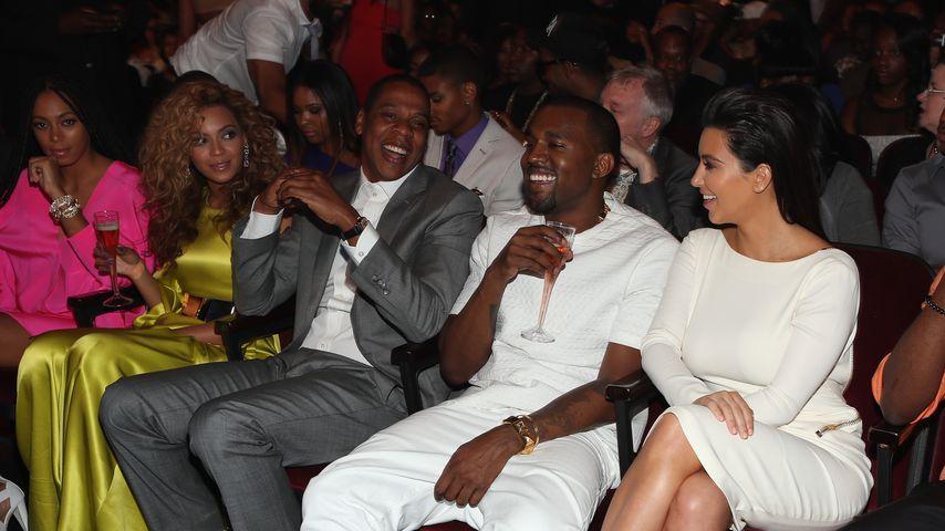 Beyoncé, Jay-Z, Kanye West und Kim Kardashian