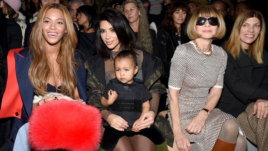 Kim Kardashian, North West, Beyoncé Knowles und Anna Wintour