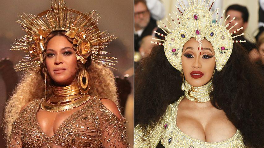 Beyoncé kopiert? Schwangere Cardi B im religiösen Met-Look!