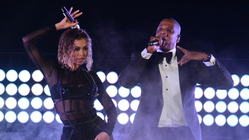 Beyoncé und Jay-Z im Staples Center, Los Angeles
