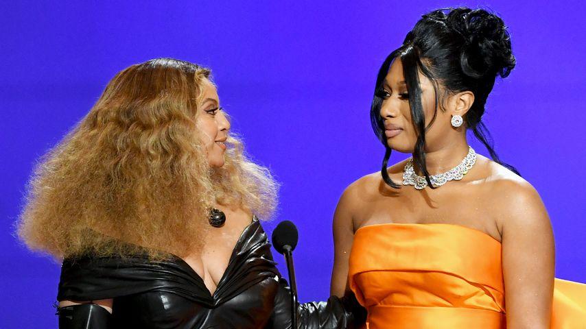 Beyoncé und Megan Thee Stallion bei der Grammy-Verleihung im Jahr 2021